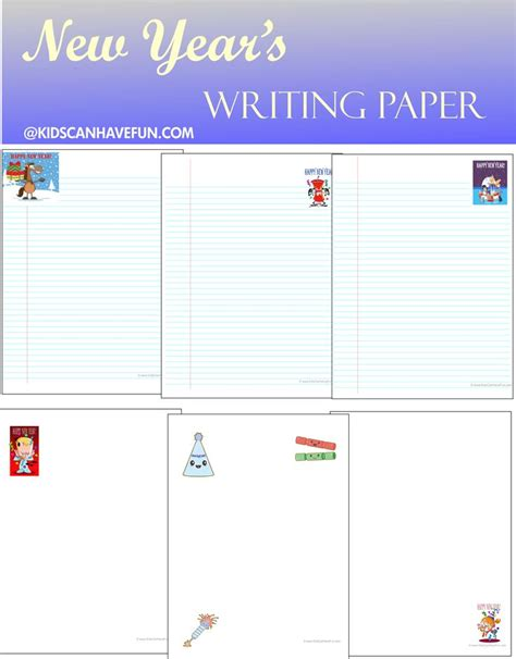 printable new year s writing paper 41 best new year s printables coloring games images on