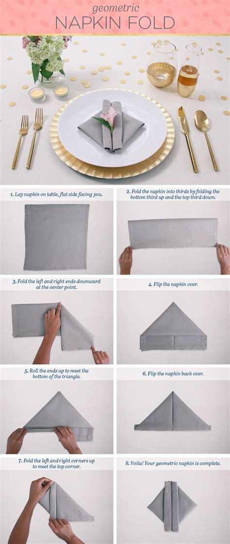 How To Fold A Paper Napkin To Hold Silverware - easy napkin folding techniques that will impress ftd