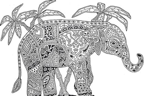 hard elephant very detailed coloring pages coloringsuite com
