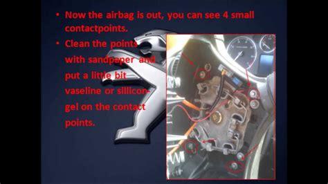 peugeot 307 airbag removal peugeot 407 airbag removal and horn repair