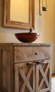 your custom rustic barn wood vanity or cabinet by