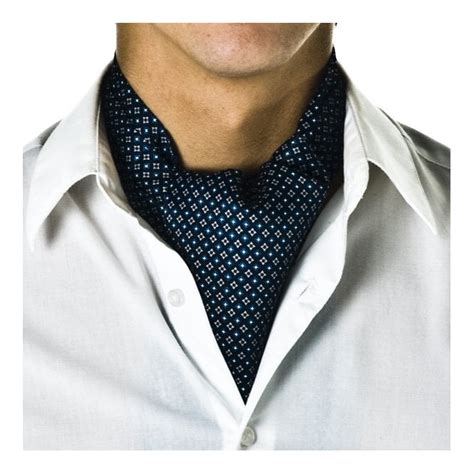 Syal Scarf Twilly Choker Scarf Bowknot Navy Blue Sheeptwch06 Navy Blue Micro Pattern Casual Cravat From Ties Planet Uk