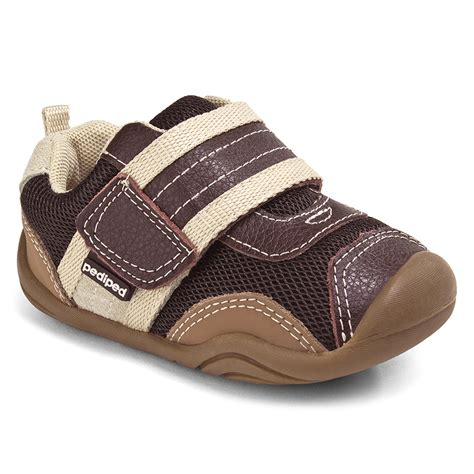 brown infant shoes grip n go adrian chocolate pediped footwear