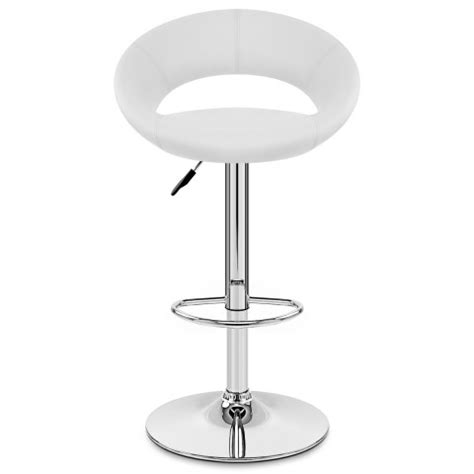 And White Bar Stools by Padded Crescent Bar Stool White Atlantic Shopping