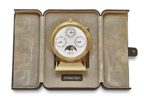 audemars piguet  gilt brass perpetual desk calendar signed audemars piguet ref