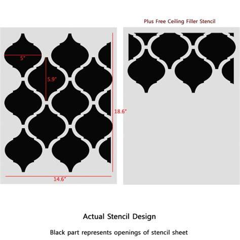 moroccan shapes templates j boutique stencils moroccan pattern casablanca wall
