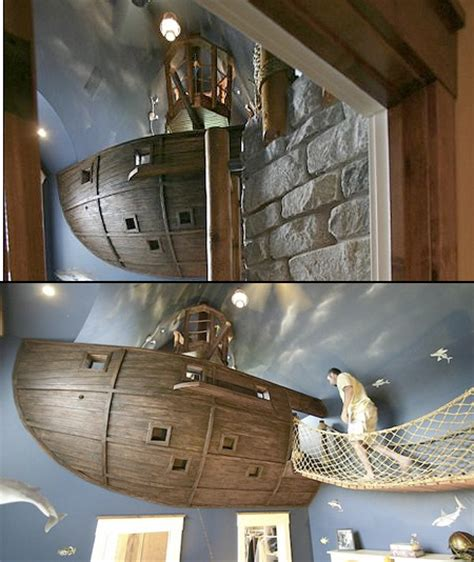 coolest bedroom in the world world s coolest bedroom has a floating pirate ship techeblog