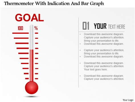Powerpoint Tutorial 9 How To Create A Thermometer Diagram And Use It For Your Business Thermometer Powerpoint Template
