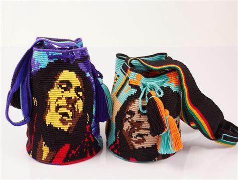 Tas Bob Marley wayuu mochila bag bob marley yarn tapestry