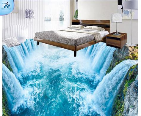 the waterfall room imported wallpaper merchant 3d flooring custom waterproof 3d pvc customize flooring for your