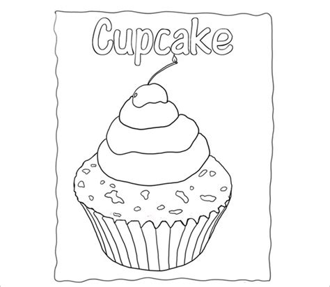 Cupcake Card Template Printable by Printable Cupcake Template 25 Eps Word Documents