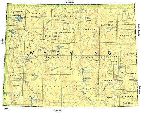 map of wyoming usa wyoming map wy map of wyoming maps of world