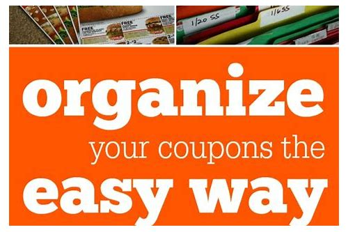 organizing coupons by insert