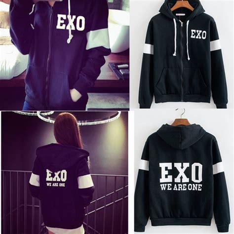 Sweater Exo By Retrouve Merch exo hooded cardigan sweater coat 183 kawaii