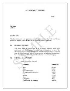 Appointment Letter Sample For General Manager