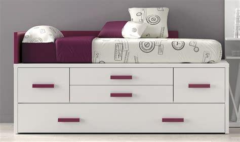 cama de 90 con cajones camas compactas con cama nido alba cama nido con cajones
