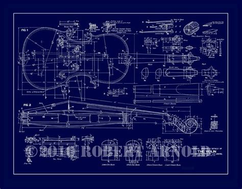 blue print creator blueprint of a 19th c violin maker s plans 11 x