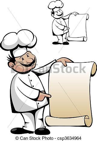 eps vector van kok uniform menu vrijstaand witte