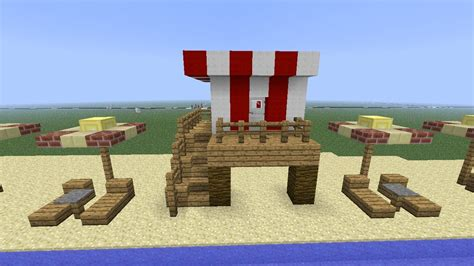 how to build a beach house in minecraft minecraft beach life guard tower youtube