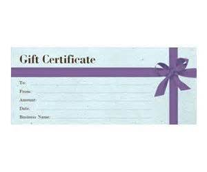 custom business gift certificates gift certificates free printable and bows on