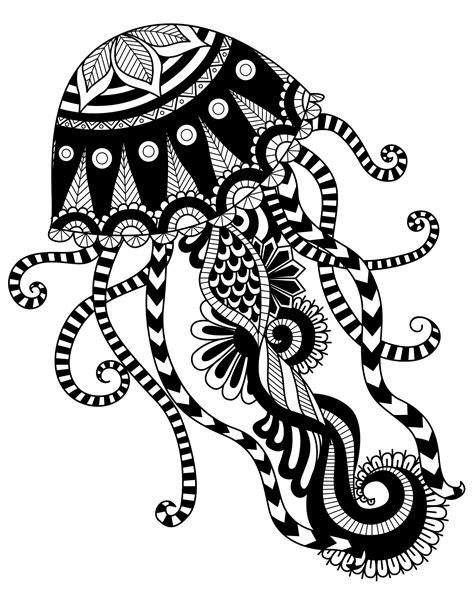 mandala jellyfish tattoo jellyfish mandala coloring page art coloring pages