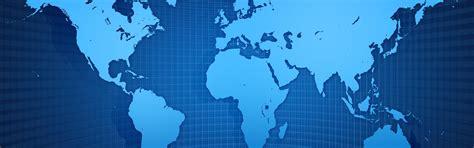 world map grid blue style wallpaper 3840x1200 multi