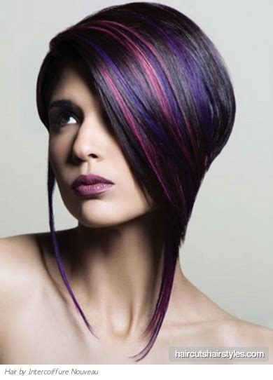 edgy highlights for brown hair edgy purple hair highlights
