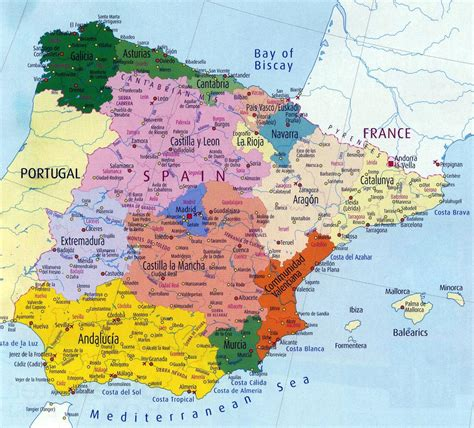 espana map spain maps printable maps of spain for
