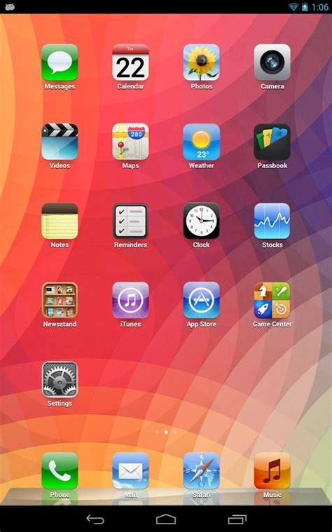 iphone 6 launcher for android скачать real iphone launcher ios theme бесплатно для android
