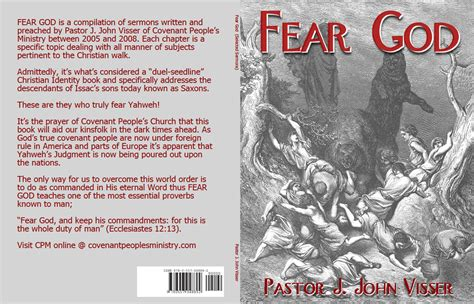 the fear of god books covenant s books fear god selected sermons 2009
