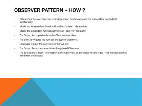 Observer Pattern In Net | observer pattern how