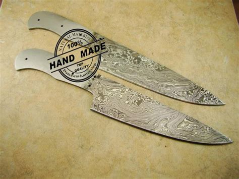 regular damascus kitchen knife custom handmade damascus steel4 lot of 2 pcs professional chef s blank blade custom handmade