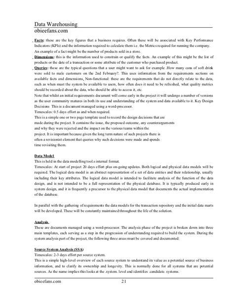 data modelling resume informatica and datawarehouse material