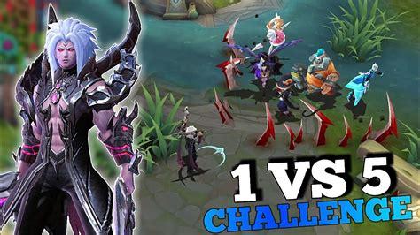 Costum Mobile Legends Mob26 new martis 1 vs 5 challenge custom mode 100 kills mobile legends