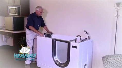 portable walk in bathtub heavenly portable walk in tubs youtube