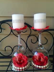 Chandelier Made Of Wine Glasses Wedding Wine Glass Candle Holder Wedding Decorations