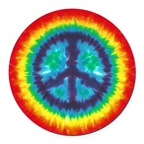 peace colours tie dye peace sign car magnet by peacefulexpression