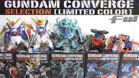Fw Gundam Converge Selection V Limited Japan Seven Eleven fw gundam converge selection limited color 全5種 開封 ガンダム