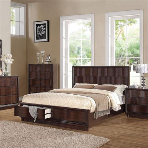 dreamfurniture travell walnut finish bedroom set