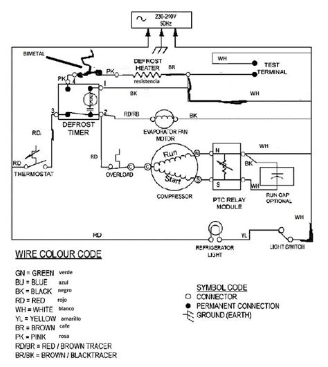 schematic wiring diagram of a refrigerator wiring
