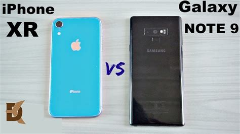 iphone xr vs samsung galaxy note 9 speed test