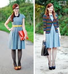 Dress the dotted tights create a quirky creative look while the