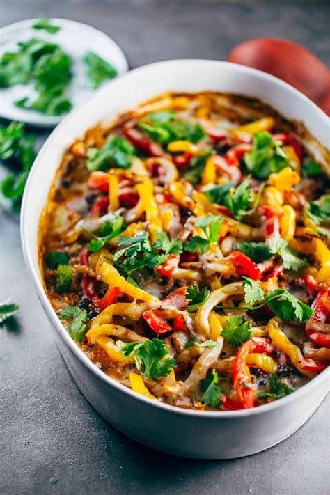 easy mexican chicken quinoa casserole recipe pinch  yum