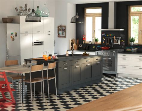 Beau Meuble De Cuisine Noir Et Blanc #2: meuble-cuisine_cuisine-kadral-blanc-noir.jpg