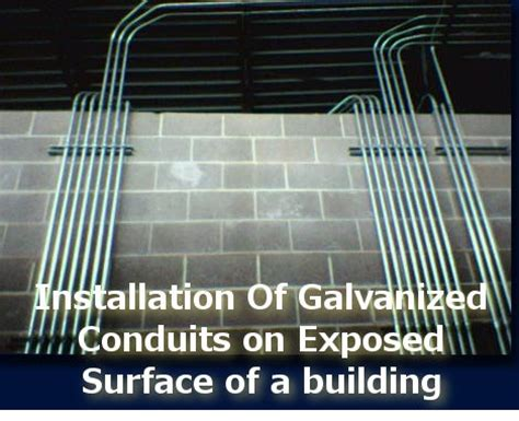 surface conduit types method statement for installation of galvanized conduits