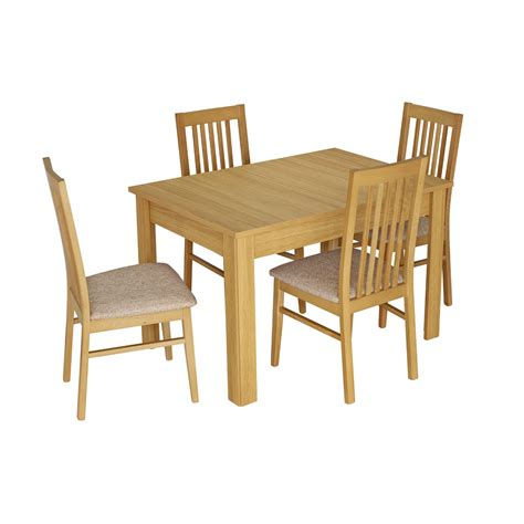 kingstown dalby large extending dining table and 4 dining