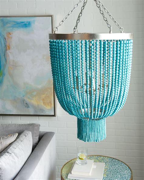 turquoise bead 4 light chandelier lighting