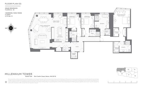 1st Floor Master House Plans floor plans for millennium tower boston released boston