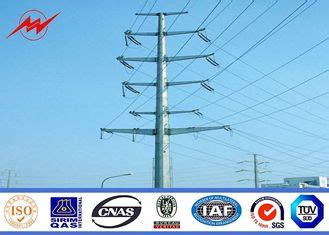 aws electrical quality steel power pole electrical power pole manufacturer