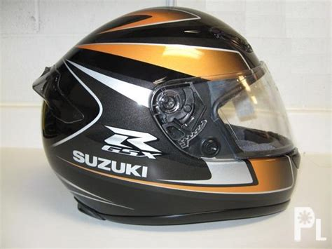 shoei rf 1000 suzuki gsx r gold and black helmet bacoor
